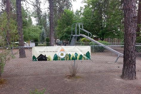 A playground in Mullen Hills Terrace, a Firewise community in Spokane County