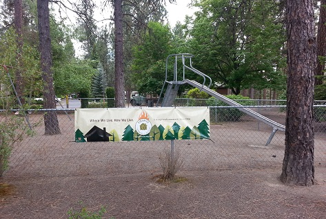 A playground in Mullen Hills Terrace, a Firewise community in Spokane County
