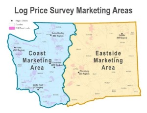 Why Do Log Prices Differ Between Eastern and Western Washington?